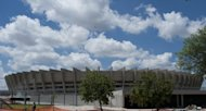 """Stadio Mineirao"", the Belo Horizonte stadium, is pictured under construction on December 4, 2012. Sex workers in Brazil's city of Belo Horizonte, which will host World Cup 2014 semi-finals, are being offered free English lessons to help them welcome the tourist onslaught, officials say"