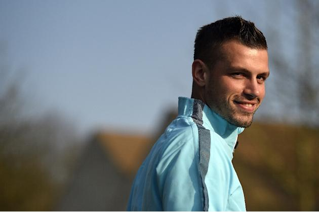 Southampton have turned down a bid from Premier League rivals Manchester United for midfielder Morgan Schneiderlin, pictured on March 23, 2015