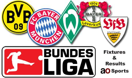Germany Bundesliga fixtures & results (19th matchday)