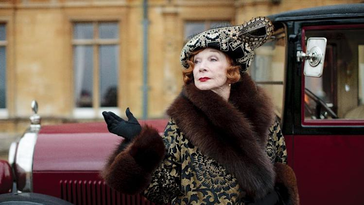 "This undated publicity photo provided by PBS shows Shirley MacLaine as Martha Levinson from the TV series, ""Downton Abbey."" The third season premiere airs in the U.S. on Sunday, Jan. 6, 2013 on PBS. (AP Photo/PBS, Carnival Film & Television Limited 2012 for MASTERPIECE, Nick Briggs)"
