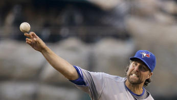 Dickey lead Blue Jays over Angels 4-0