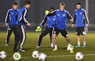 """Chelsea forward Fernando Torres (2nd R) during a team training session in Tokyo on December 15, 2012. """"The Liverpool-Chelsea rivalry... may have created an animosity which is understandable, but in time that will all change,"""" he said"""