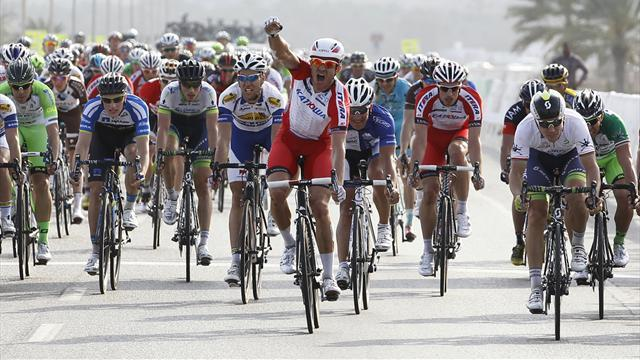 Cycling - Kristoff wins second Oman stage as Howard takes lead