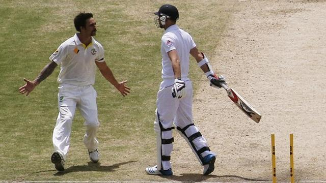 Ashes - Destroyer Johnson bowls England out