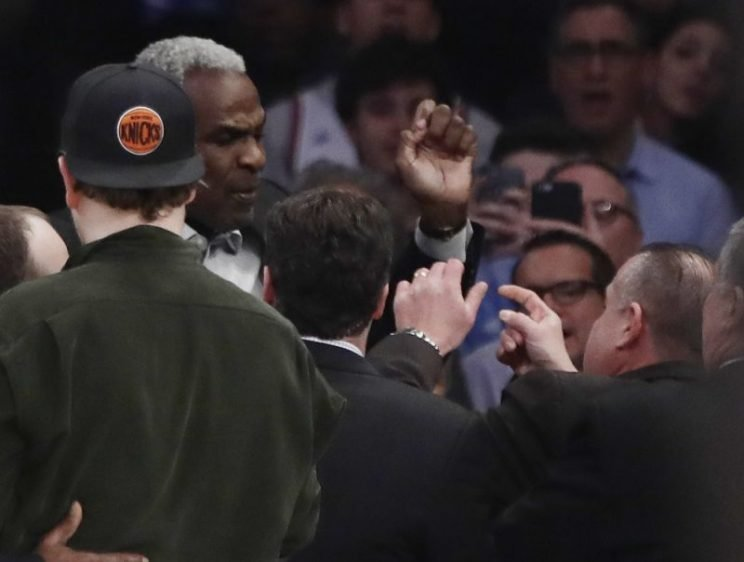 Charles Oakley banned for life by the New York Knicks and MSG