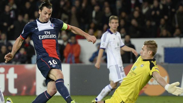 Champions League - Ibrahimovic salvages draw for PSG against Anderlecht