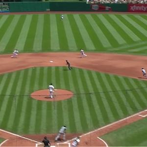 Mercer starts double play