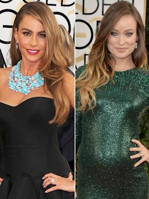 Sofia Vergara/Olivia Wilde -- Golden Globes 2014 -- Getty Images