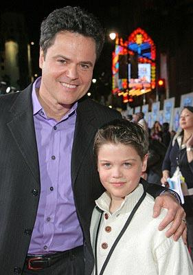 Donny Osmond and son Joshua at the Los Angeles premiere of Walt Disney Pictures' College Road Trip