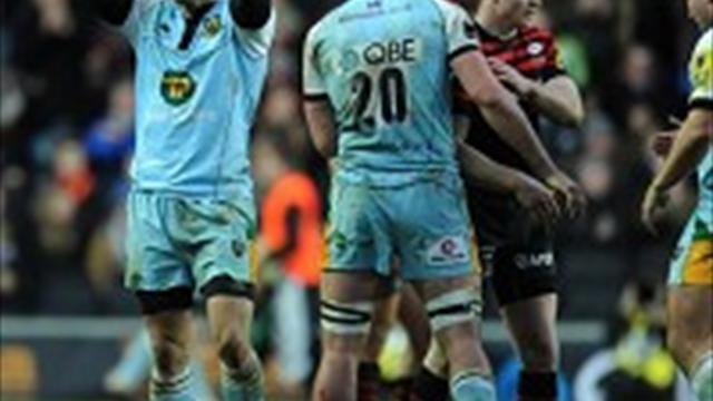 Rugby - Sarries second after last-gasp miss