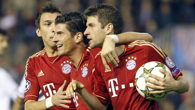 Champions League - Valencia and Bayern both through after draw