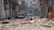 The scene in the besieged city of Homs on June 17. The United States has voiced frustration at Russia's blocking of UN Security Council moves against President Bashar al-Assad. The head of the UN mission in Syria is to brief the Security Council on Tuesday on the deteriorating conflict