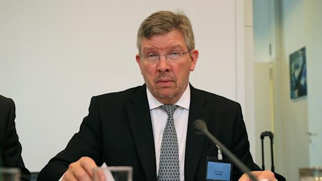 Mercedes principal Ross Brawn is seen prior to the hearing at the FIA headquarters in Paris June 20, 2013 (Reuters)