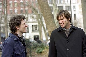 Director Michel Gondry and Jim Carrey on the set of Focus' Eternal Sunshine of the Spotless Mind