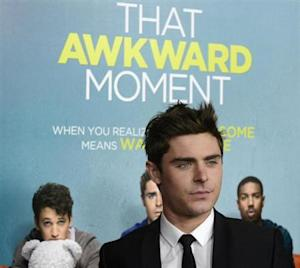 """Zac Efron attends the premiere of the film """"That Awkward Moment"""" in Los Angeles"""
