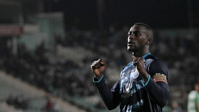 Porto's Jackson Martinez celebrates his goal against Setubal during their Portuguese Premier League soccer match at Bonfim stadium in Setubal