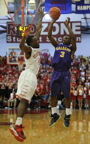 Albany tops Stony Brook 69-60, advances to NCAAs