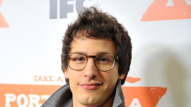 """Andy Samberg attends the """"Portlandia"""" Season 2 premiere screening at the American Museum of Natural History on January 5, 2012 in New York City."""