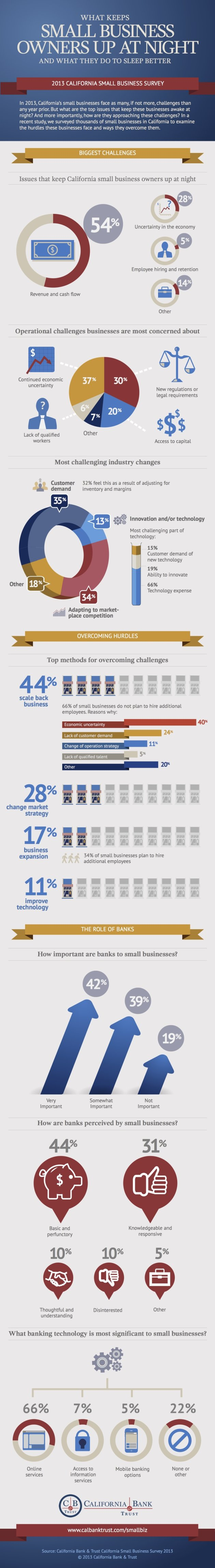 Survey of Small Business Owners Shows Economy a Major Concern (Infographic) image California Bank Trust Small Business Survey2