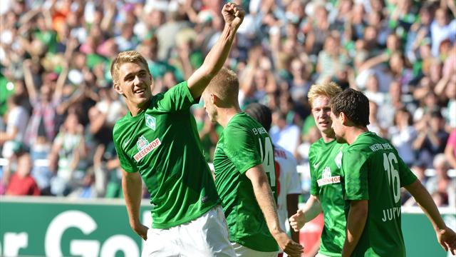 Hunt misses one penalty, scores another in Bremen win