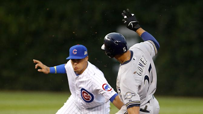 Gallardo pitches Brewers past Cubs 3-1