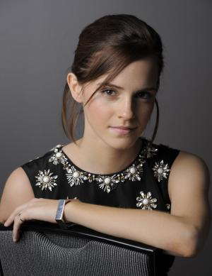 "Emma Watson, a cast member in ""The Perks of Being a Wallflower,"" poses for a portrait at the 2012 Toronto Film Festival, Sunday, Sept. 9, 2012, in Toronto. (Photo by Chris Pizzello/Invision/AP)"