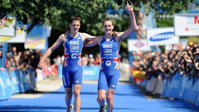 Triathlon - Brownlee brothers storm to joint Abu Dhabi victory