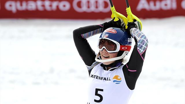 Alpine Skiing - Shiffrin wins to pinch slalom World Cup from Maze