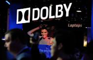 A general view of the Dolby booth at the 2012 International Consumer Electronics Show in Las Vegas, Nevada, in January 2012. The audio pioneer has gained naming rights previously held by bankrupt camera company Kodak for the Oscars venue in Hollywood