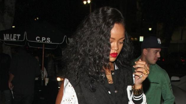 Rihanna and Rob Kardashian spotted out in Hollywood on August 25, 2012 -- Pacific Coast News