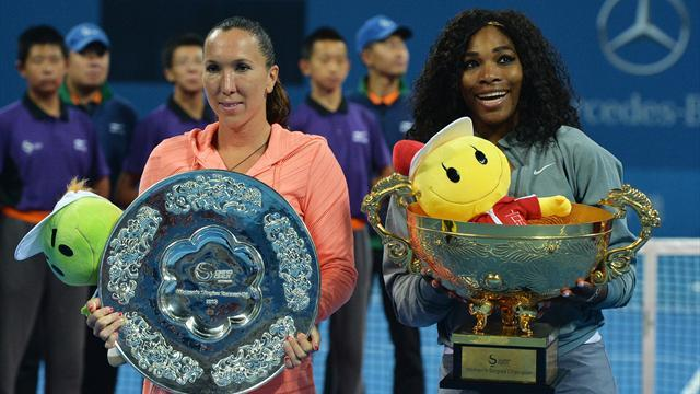 Tennis - Serena powers past Jankovic for 10th title in 2013