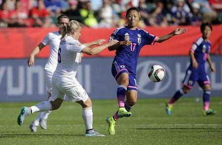 Soccer: Women's World Cup-England at Japan