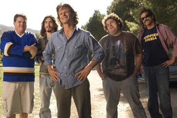 Kevin Heffernan , Justin Long , Steve Zahn , Jonah Hill and Allen Covert in Paramount Pictures' Strange Wilderness