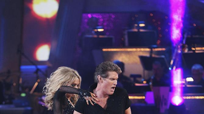 """Kym Johnson and David Hasselhoff perform on """"Dancing with the Stars."""""""