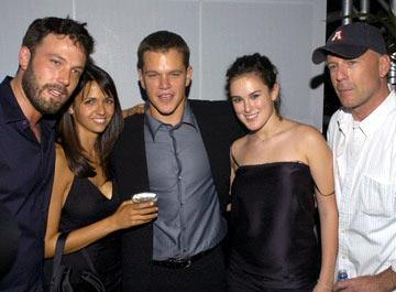 Premiere: Ben Affleck, Luciana Barroso, Matt Damon, Rumer Willis and Bruce Willis at the Hollywood premiere of Universal Pictures' The Bourne Supremacy - 7/16/2004