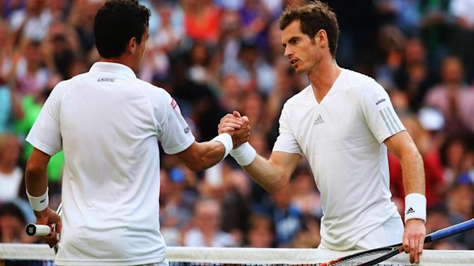 Wimbledon - Murray blows Bautista away to reach fourth round