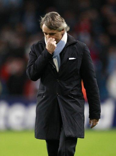Roberto Mancini, pictured, will not face disciplinary action after confronting referee Peter Rasmussen