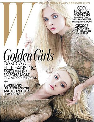 The sisters on the cover of W. Mario Sorrenti