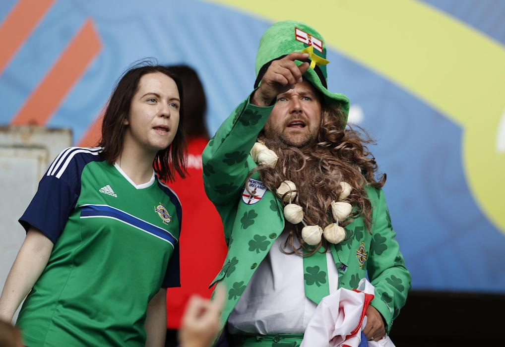 Northern Ireland fans before the match