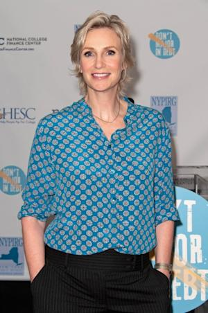 Jane Lynch attends a news conference introducing a website as part of the 'Don't Major In Debt' public service announcement campaign at 451 West Street in New York on July 17, 2012 -- Getty Images