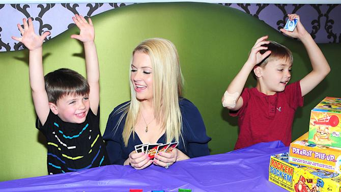 Melissa Joan Hart Enjoys Family Time To Celebrate Mattel`s Great American Game Break April 27-28