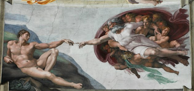 Michelangelo's inspired imagining of the Creation of Adam