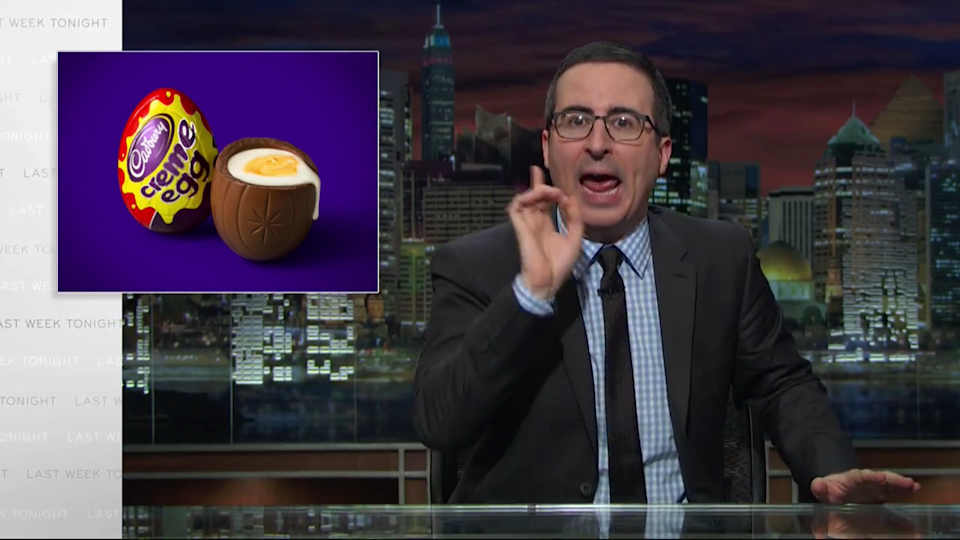 John Oliver Concocts Insane Cadbury Creme Egg Conspiracy Theory