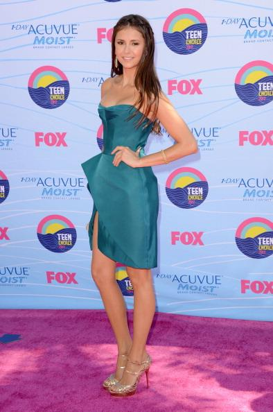 Actress Nina Dobrev arrives at the 2012 Teen Choice Awards at Gibson Amphitheatre on July 22, 2012 in Universal City, California. (Photo by Jason Merritt/Getty Images)