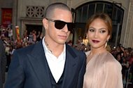 Jennifer Lopez and Casper Smart. AFP