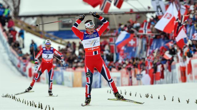 Cross-Country Skiing - Bjoergen defends another title in Val di Fiemme