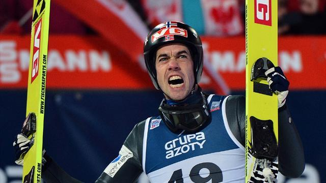 Ski Jumping - Bardal back to winning ways in Wisla