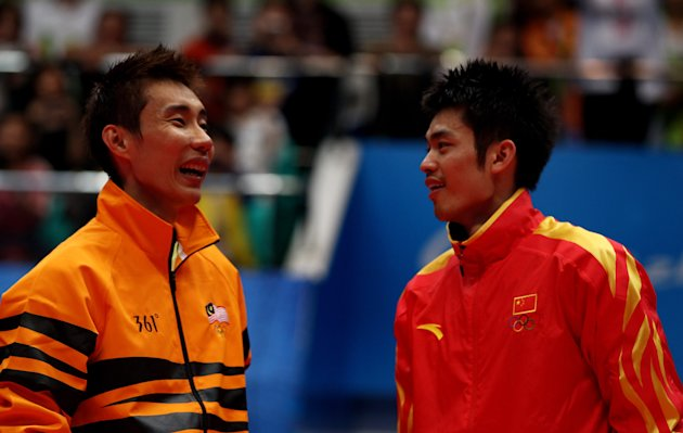 (L-R) World no.1 Lee Chong Wei and world no.2 Lin Dan will miss the Li-Ning Singapore Open. (Getty Images)