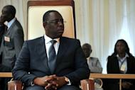 This handout photo shows Senegal's new president Macky Sall during his swearing in ceremony in Dakar on April 2. Sall named ex-banker and business executive Abdoul Mbaye as his prime minister late Tuesday, a day after being sworn into office in the west African country