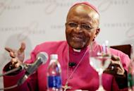 South African Archbishop Desmond Tutu gives a press conference on April 11, 2013, in Cape Town. Tutu checked into a South African hospital on Wednesday for tests related to an ongoing infection, his foundation said